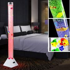 RGB LED Steh Lampe Wasser Säule Farbwechsel Leuchte Kabel Schalter Deko Fische