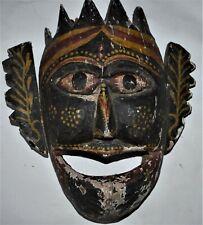 """Orig $749 Nepal/Tibet Terai Shaman Mask, 15"""" Prov"""