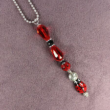 Lucky Ladybug Car Charm Suncatcher Rearview Mirror Dangler Totem Talisman Amulet
