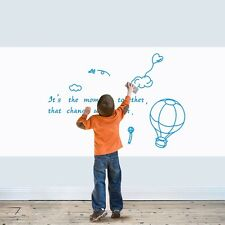 Removable Whiteboard Wall Sticker Kids Bedroom Drawing PVC Erasable White Board