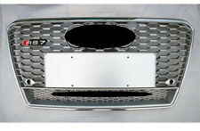RS7 Style Grille With Quattro Full Silver Chrome Rings For 2013 2014 Audi A7 S7