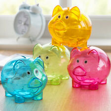 Plastic Piggy Bank Coin Money Cash Collectible Saving Box Pig Kids Toy Gift Cute