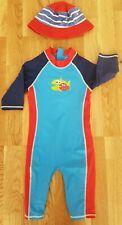 Nutmeg Barnaby 5-6 Years boy girl Sun Safe Protection UV Swim Costume hat medium