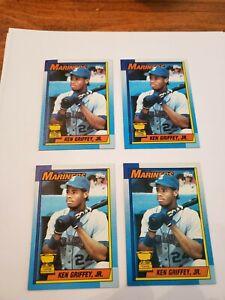 Topps 1990 Ken Griffey Jr. Seattle Mariners #336 Baseball Card!! LOT OF 4!!