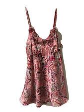 Cacique  Babydoll Chemise Nightgown SATIN floral Print Spaghetti strap sz-14/16