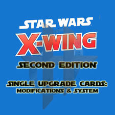 X-Wing Miniatures 2.0 Game 2nd Edition -Upgrade Cards MODIFICATIONS SYSTEM TECH