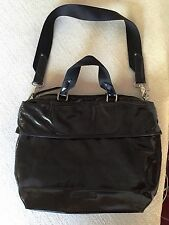 NWOT Kenneth Cole Reaction Black Shoulder Bag, Green Lining