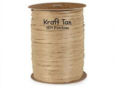300 feet (100 yards) ~ Kraft Tan MATTE  Wraphia / Raffia ~ Ribbon
