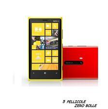 5 Pellicola per Nokia Lumia 920 Protettiva Pellicole SCHERMO DISPLAY LCD LUMIA