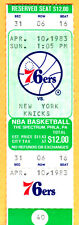 GEM MINT NBA BASKETBALL FULL TICKET-4/10/83 KNICKS VS. 76ERS