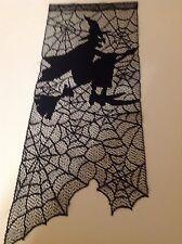 "Black Lace Halloween design Wall Hanging 29L""x12W"""