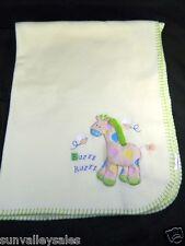 Koala Baby Giraffe Bee Yellow Baby Blanket w Squeaker Toy Inside