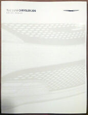 2016 Chrysler 200 60-page Original Sales Brochure Catalog NEW