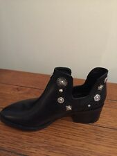 915a0424659fd NEW E8 By Miista Octavia Size 39 8 Black Leather Silver Accents Chelsea  Boots