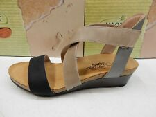 9797a5b821c4 Naot Vixen Oil Coal Nubuck Khaki Beige Mirror Colorblock Sandal Shoe 39eu 8