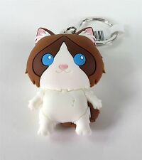 Purrfect Pets Cast Figural Keyring Series Ragdoll Cat Figure New
