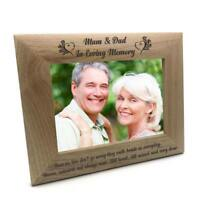 Mum and Dad Memorial Remembrance Photo Frame FW59