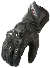 New AGVsport Intrepid Leather Motorcycle Racing Gloves Carbon Armour Knuckles