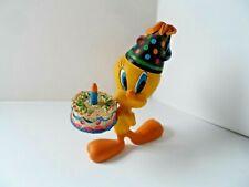 Collectable Rare Figure Warner Bros 2001 Tweety with Birthday Cake FreePost UK