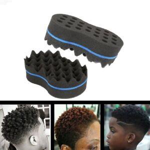 Weaves Barber Hair Brush EVA Sponge Double-Sided Twist Coil Braids Styling Curly