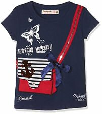 Desigual TS Earwig T-shirt fille Bleu (navy 5000) 7/8 ans (taille Fabrican...