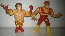 WWF WWE Hasbro Custom Mega Maniacs tag team hulk hogan Wrestling Figure toy lot