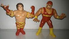 WWF WWE Hasbro Custom Mega Maniacs tag team hulk hogan Wrestling Figure toy lot
