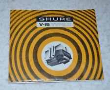 VINTAGE Shure V-15 Type II (Type 2) Cartridge Stylus User Manual
