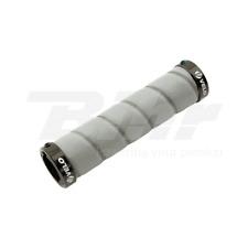 11983 Manopole bici VELO PU+Gel+Non Slip lunghe 130mm colore grigio