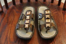 ALEGRIA by PG Lite Womens Leather Slide Thong Sandle in Copper Sz 37 Retail $120