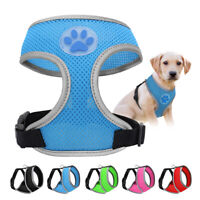 Adjustable Breathable Mesh Small Dog Cat Pet Harness Collars Puppy Vest S M L
