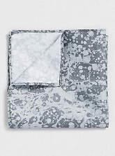BNWT Topman Black & Grey Marble Print Pocket Square Hankerchief, RRP £6