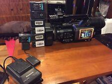 Panasonic AG-DVX100BP Mini DV Camera Recorder-1 Charger -8 Batteries!