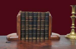 Victorian Oak Book Ends
