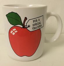 """Hallmark """"For A Special Teacher!"""" Mug White with Red Apple (coffee cup pet)"""