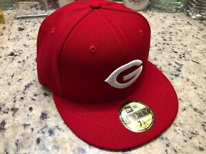 New Era 59fifty 5950 Greeneville Reds 7 1/8 Home Hat Cap