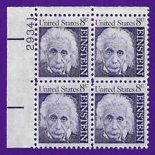 Albert Einstein Space Science Mathematics Physicist US Stamp Plate Block MINT NH