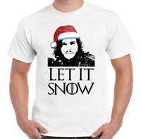 Navidad Let It Nieve Camiseta Juego de Tronos Inspirado Hombre Jon John Secreto