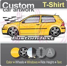 Custom T-shirt 1998-04 VW Golf mk4 2003 GTi 337 20th Edition R32 V5 V6 4MOTION