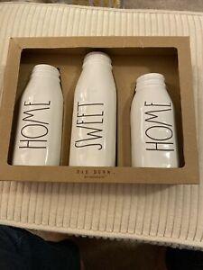 Brand New In Box Rae Dunn Home Sweet Homecset Of 3 Vases