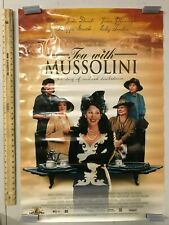 Tea with Mussolini Movie Poster Original Vintage Cher Dame Judy Dench 1999 Film