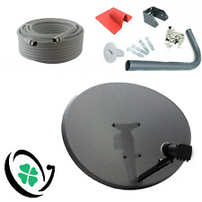 SKY / FREESAT Satellite Dish Kit - Zone 2 Quad LNB (MK4) HD + 20M RG6 White