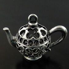 07969 Antiqued Silver Vintage Alloy Cute Teapot Pendant Charm Finding 5pcs