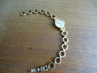 Vintage Orologio Meccanico Cassa Placcato Oro Svizzera Lov Art Deco