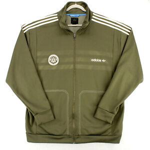 ADIDAS MUHAMMAD ALI The Greatest Olive Green Track Jacket Men's 2XL