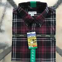 Orvis Men's Tartan Twill Long Sleeve Shirt - XL, color Red