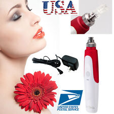Beauty Anti Aging Electric Derma Pen Stamp Auto Micro Needle Roller W/ Cartridge