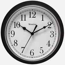 "46991A New! WESTCLOX Black 8-1/2"" Quartz Wall Clock Battery Operated Home Office"