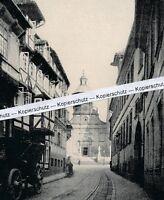 Hildesheim - Kreuzkirche und Gasse -  um 1925 - selten!       M 26-19