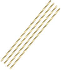 Pgcoko 3mm Inch Brass Round Rod 4pcs Solid Round Brass Rod Lathe B